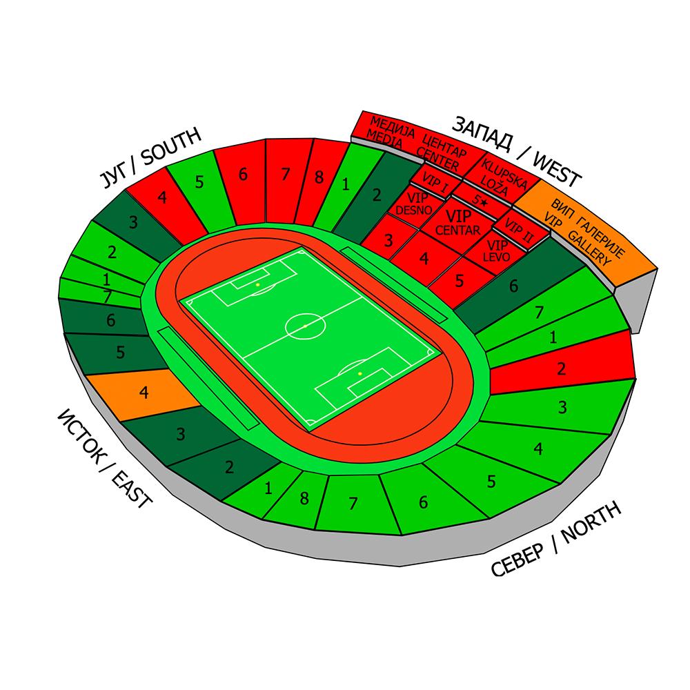Billedresultat for rajko mitic stadium plan